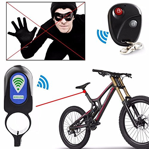 Bicycle Alarm Lock Anti-theft Lock With Remote Controller Riding Cycling Security Lock by Isguin (Image #2)