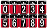 Hillman Mailbox Numbers Kit (Numbers 0-9) - 1-1/2 Inch Reflective Black Aluminum