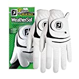 New 2017 FootJoy WeatherSof Mens Golf Gloves (2 Pack) (Medium, Worn on Left Hand)