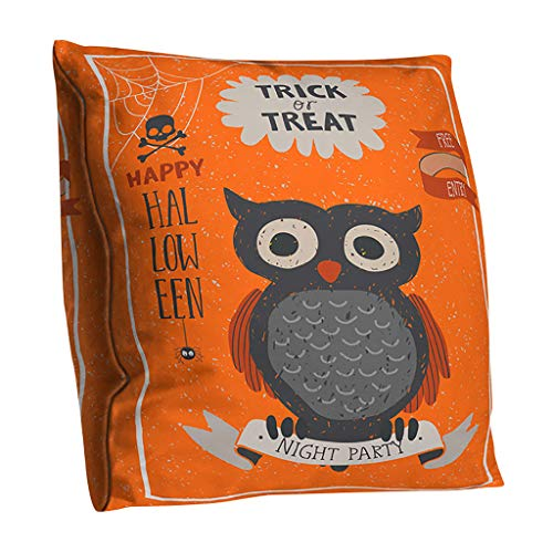 MoonHome Vintage Halloween Pillow Covers Owl Crow Pumpkin Skull Throw Pillow Covers Halloween Cushion Covers 18 x 18 inch