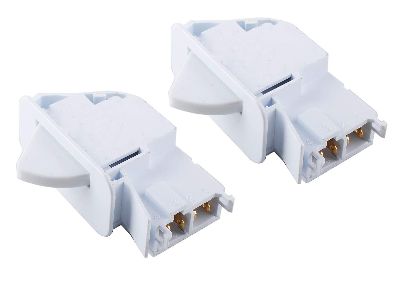 Ketofa 6600JB1010A Refrigerator Switch Door Push Button for LG Kenmore Parts (Pack of 2) AP4442090 6600JB1010K 1268243 6600JB1004A 6600JB1010L AH3529268 EA3529268 PS3529268
