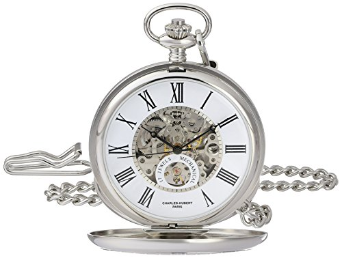 Charles-Hubert, Paris 3973-W Classic Collection Analog Display Mechanical Hand Wind Pocket Watch by Charles-Hubert, Paris