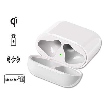 Lenture Carga Inalambrica Caso Reemplazo para Auriculares Inalámbricos, Estuche Adaptador Estándar Qi, Batería Integrada, Compatible con Todas Las ...