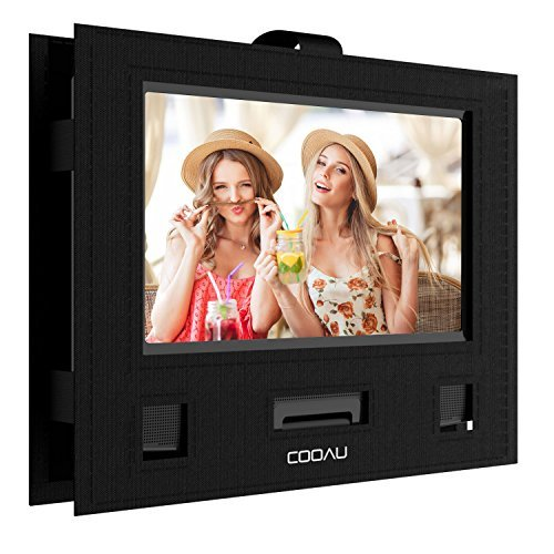 COOAU Car Headrest Mount Holder Hands-free Carry Case for 9'' - 9.5'' Portable DVD player with Swivel & Flip Screen