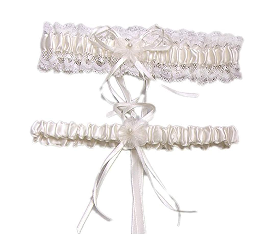Amore Bridal Womens Wedding Accessories Lace Garter Set for Bride