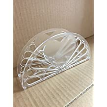 """7"""" Napkin Holder - Double Swan Heart Design 12 Pieces / Clear"""