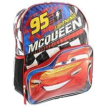 "Disney Pixar Cars 3 ""95 Lightning McQueen"" 16 inch Backpack with Side Mesh Pockets"