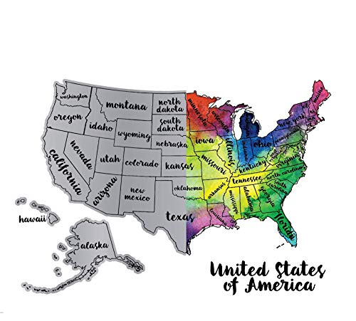 Lacesi Scratch Your Travels United States of America - Personalized Travel Tracker Poster USA & Map Poster, for Travelers