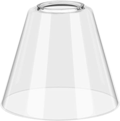 Clear Glass Lamp Shade Replacement Lampshade 4 4 Height X 5 3 Width Amazon Com