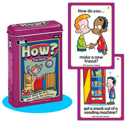 Super Duper Publications How? Fun Deck Flash Cards Educational Learning Resource for Children by Super Duper Publications