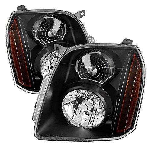 GMC Yukon/Yukon XL ( Don't fit Denali Model ) Crystal Headlights Black Housing With Clear Lens