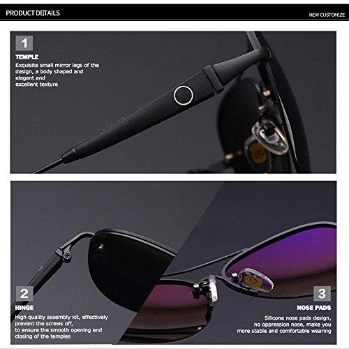 al sol Black sol conducción gafas de aire de de libre haixin copas Gafas polarizantes magnesio aluminio caballo deporte hombres 6Uz6Sqwx