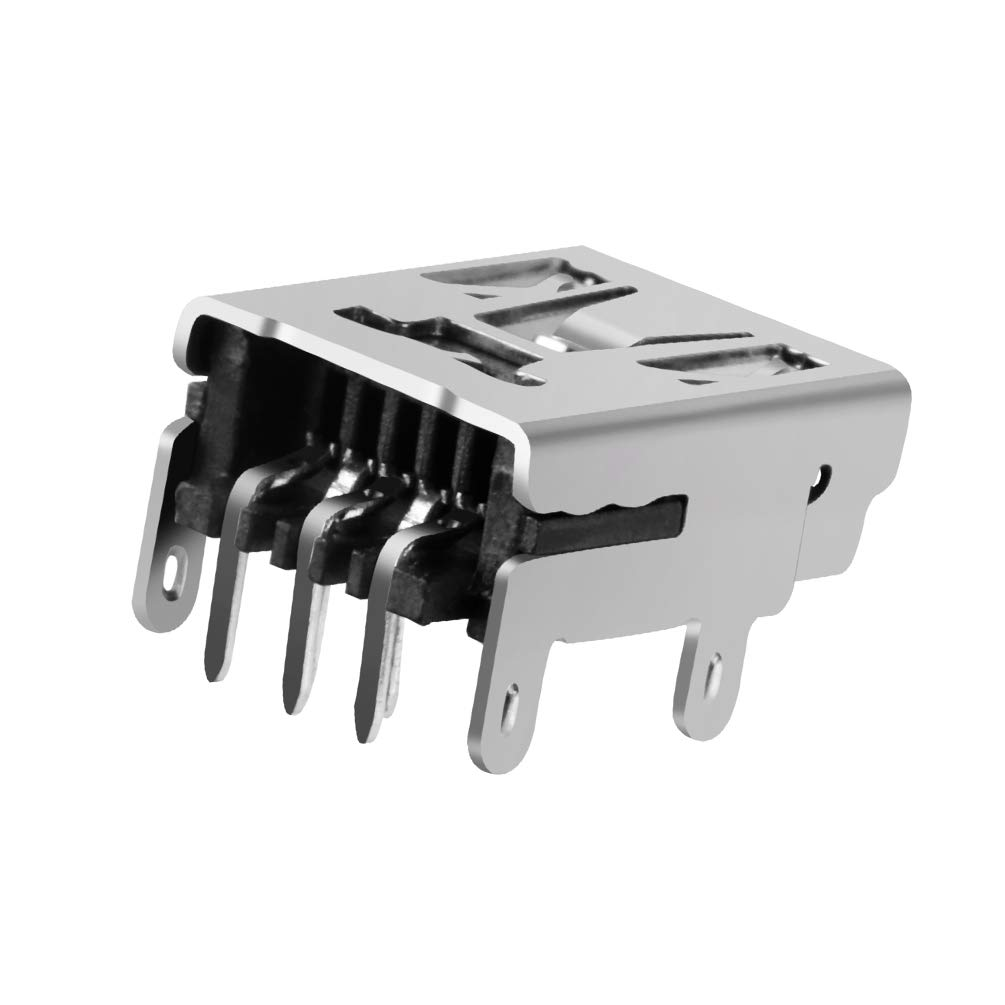 MXRS 10 Pcs Micro USB Type B Female Socket 180 Degree 5-Pin SMD SMT Jack Connector