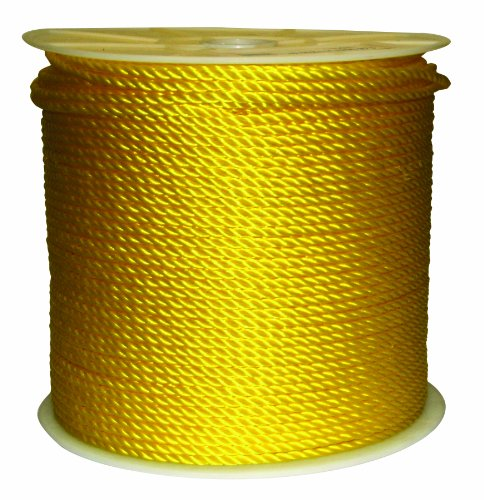 Rope King TP-141200Y Twisted Poly Rope - Yellow - 1/4 inch x 1,200 feet