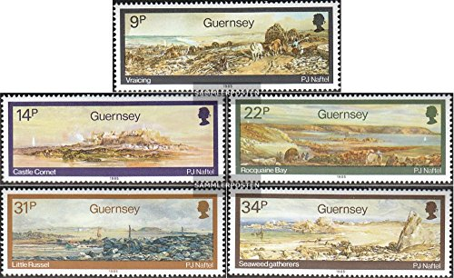united kingdom-Guernsey 335-339 (complete.issue.) 1985 Landscape Paintings (Stamps for collectors)