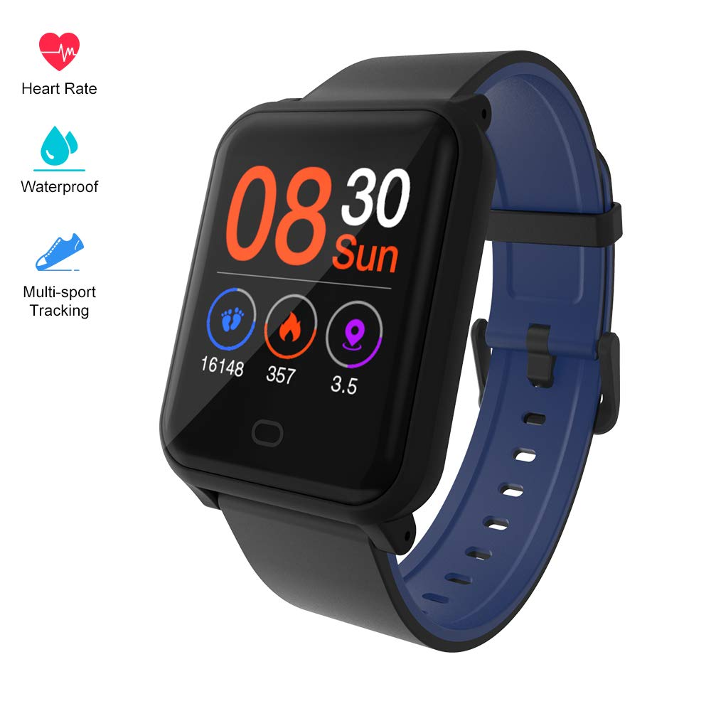 Fitpolo Color Screen Fitness Watch, IP67 Waterproof Smart Activity Tracker with Heart Rate Monitor,Pedometer,Calorie Counter,Sleep Monitor, SMS SNS Alert