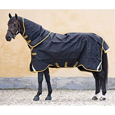 Horseware Rambo Supreme Turnout 81-Black/Gold (Supreme Rambo Turnout)