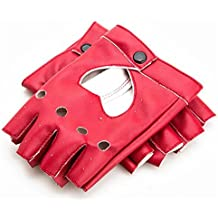 GOOTRADES Punk Fingerless Dance Glove For Women, Jazz Style Glove, PU Leather