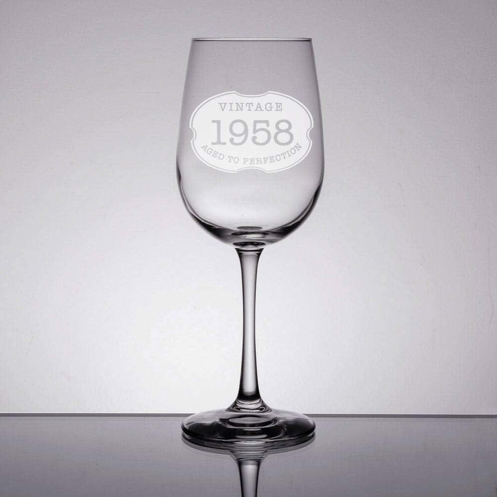 Vaso de vino envejecido a la perfección, copas de vino grabadas, regalo de Navidad personalizado, para vino blanco o rojo, mamá, abuela, papá, abuelo, 40 °, 50 °, 60 °, 70 cumpleaños regalo: Amazon.es: Hogar