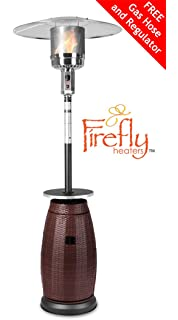 Firefly Los Freestanding Gas Heater With Rattan Base 12KW