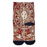 God of Sun and God of Moon Socks Tube Socks Cool Street Socks Hip Hop Street Professional Skateboard Sports Men Women Socks Black