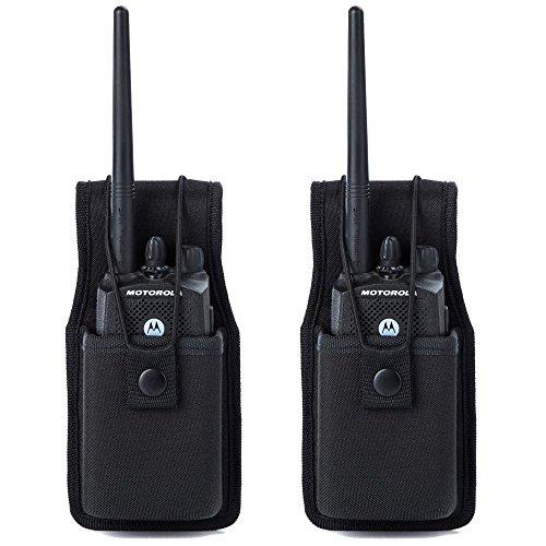 کیف دستی رادیویی یونیورسال کیسه ای برای رادیو یونیورسال برای کیف های Walkie Talkies لوازم جانبی نایلون هولستر برای موتورولا MT500 ، MT1000 ، MTS2000 و مدلهای مشابه توسط Luiton (2 بسته)