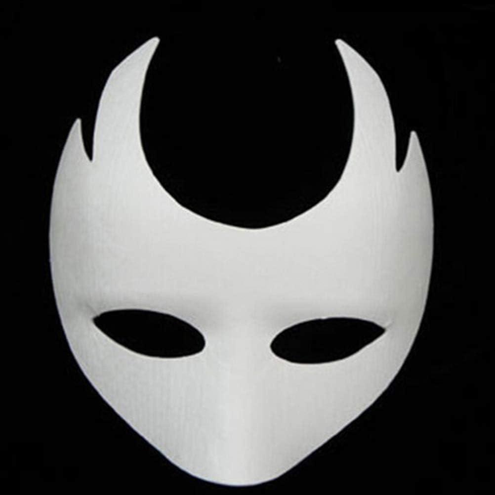 Ltd 10PCS DIY Unpainted Paper Half Face Masquerade Masks with Feathers,Self-Adhesive Rhinestone for Halloween Mask Mardi Gras Mas KeFit Co