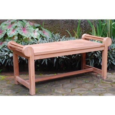 Windsor's Genuine Grade A Teak Lutyens Coffee Table/Backless Bench, from Indonesian Plantation Teak, 47