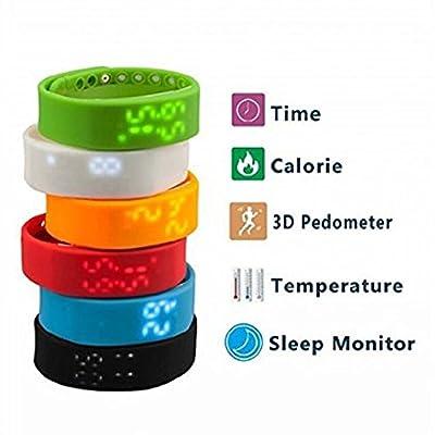 iStyle® Smart LED Watch Smart Bracelet Sports Wristband Tracker Pedometer Sleep Steps Calory Temperature Monitor