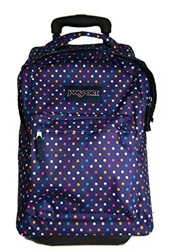 "JANSPORT SuperBreak Wheeled Backpack - 19"" (Purple Spot-O..."