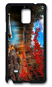 MOKSHOP Adorable Autumn Forest Scenery Hard Case Protective Shell Cell Phone Cover For Samsung Galaxy Note 4 - PCB