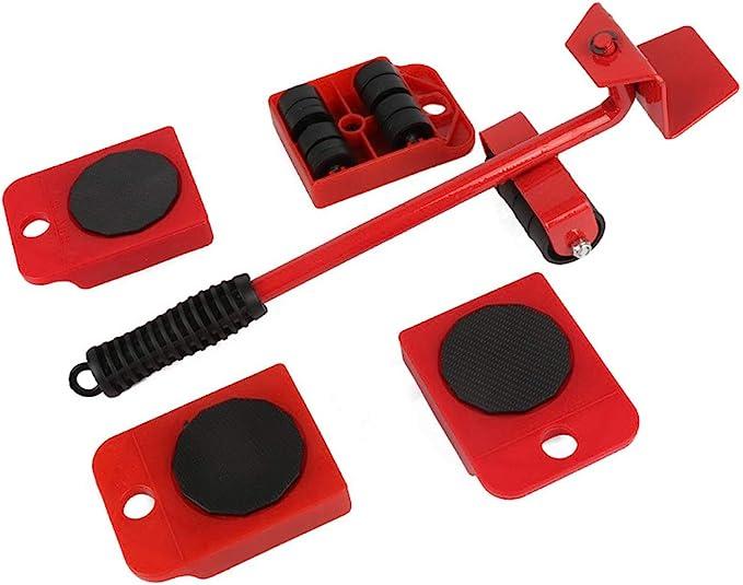Mobili Moving Wheels Set 5 Pz Heavy Duty Mobili Lifter E Mover Strumento Carrelli Aiuti Per La Casa Ristrutturazione Giallo