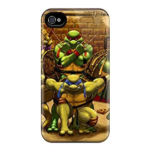 Shock-Absorbing Hard Phone Case For Iphone 6 (Ann463hYTh) Provide Private Custom Realistic Ninja Turtles Pattern