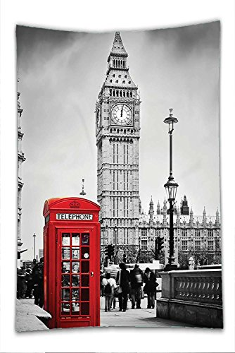 British Cultural Costumes (Nalahome Fleece Throw Blanket London Decor Historical Old Tower Bridge in London British Skyline Ancient Cultural Monuments View Decor Grey Red)