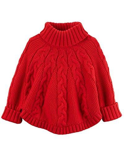 Carter's Little Girls' Poncho Turtleneck Sweater (5t, - Girls Poncho Kid
