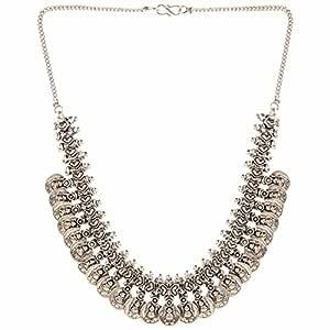Efulgenz Indian Vintage Retro Ethnic Gypsy Oxidized Slver Tone Boho Necklace Jewelry for Girls and Women Gift for Her