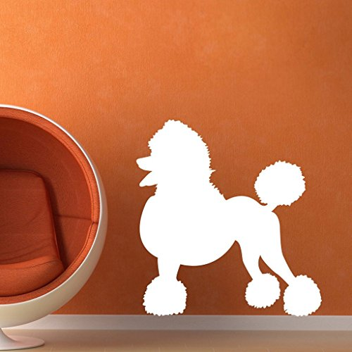 N.SunForest Poodle Wall Vinyl Decal Sticker Family Kids Room