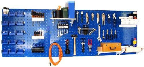 Wall Control 30-WRK-800BUW Master Workbench Metal Pegboard Tool Organizer by Wall Control