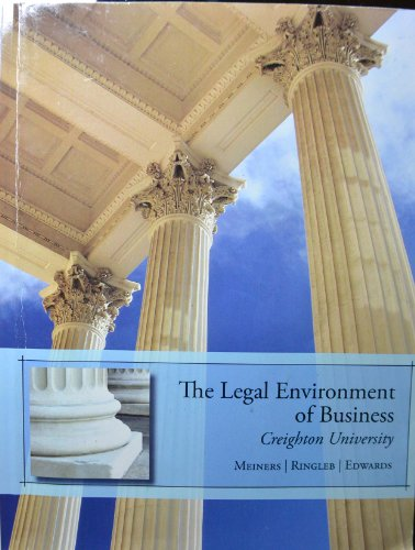 The Legal Environment of Business- Creighton University