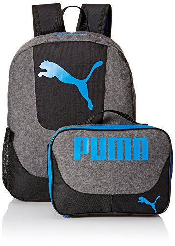 PUMA Boys' Little Backpacks and Lunch Boxes, Gray/Blue Kit, Youth ()