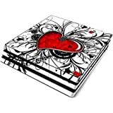My Heart Full Faceplates Skin Decal Wrap with 2 Piece Lightbar Decals for Playstation 4 Pro