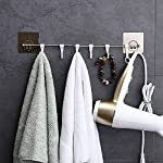 ZURATO Plastic Magic Sticker ABS Stainless Steel Series Self Adhesive Bathroom Towel Rail Utensil Rack Kitchen Hanger…