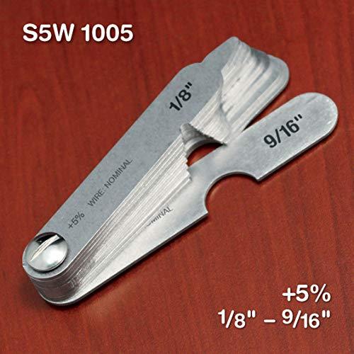 S5W1005 +5% Standard Wire Rope & Sheave Gauge - 1/8