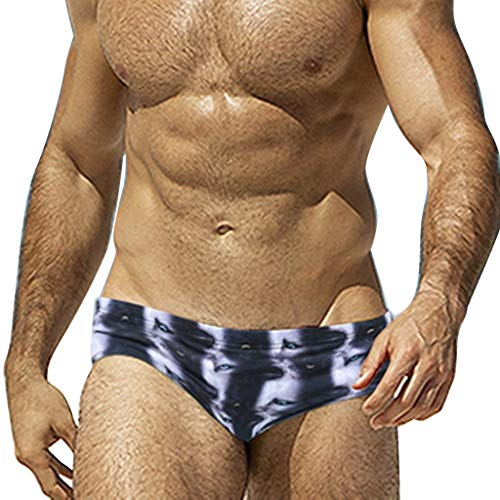 OrchidAmor Fashion Men Breathable Trunks Pants Beach Print Running Swimming Underwear White