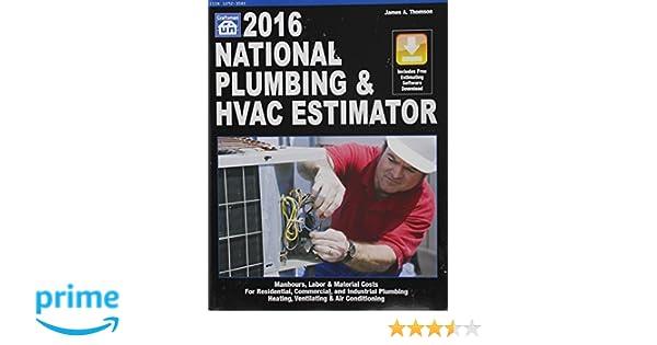 national plumbing hvac estimator national plumbing hvac estimator wcd james a thompson 9781572183209 amazoncom books - Hvac Estimator