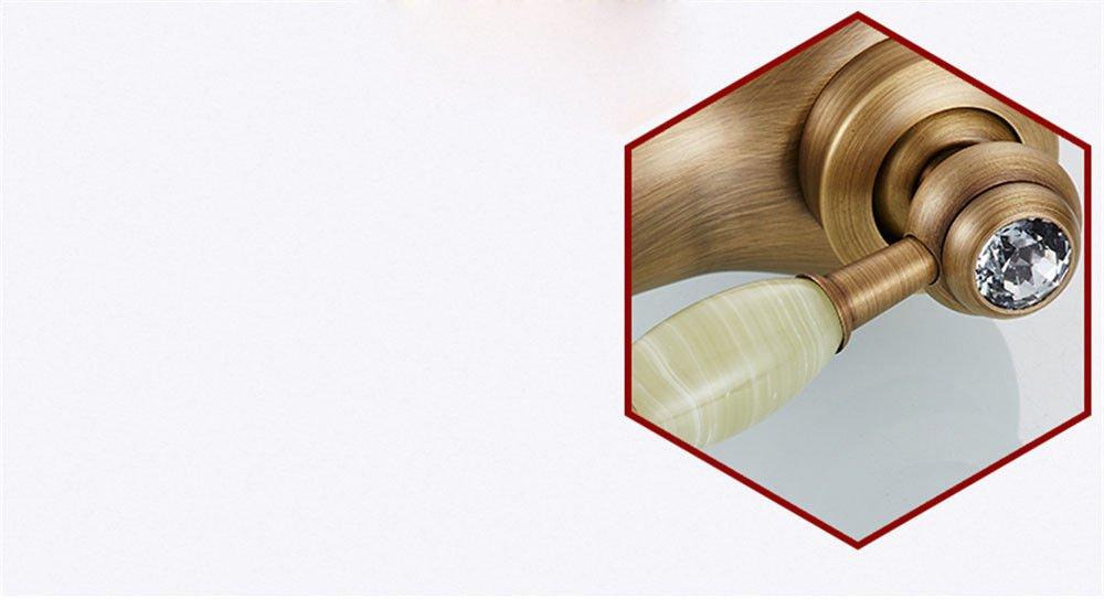 ETERNAL QUALITY Badezimmer Badezimmer Badezimmer Waschbecken Wasserhahn Messing Hahn Waschraum Mischer Mischbatterie Antike Wasserhahn warmes und kaltes Bad antik Kupfer Waschbecken Wasserhahn 975e94