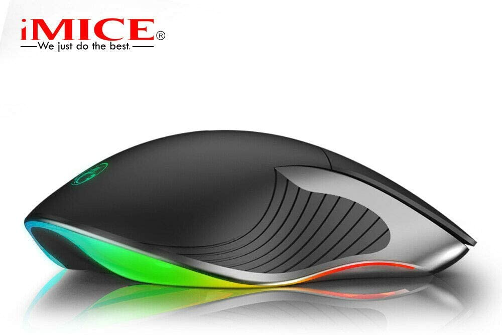 GuangDu Gaming Mouse Wired,6 Buttons USB Wired Mouse Side Buttons,Chroma RGB Backlit,6400 DPI Adjustable,Comfortable Gaming Mouse for Notebook,PC,Laptop,Computer,MacBook