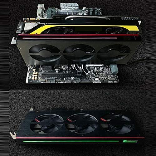 Strong Magnesium Aluminum Case Graphics Card Cooler Video Card Heatsink Fan Radiator Graphics Card Cooler