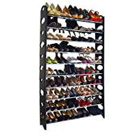 Crazyworld Stainless Steel 10 Tier 50/30 Pairs Shoe Rack/Shoe Storage Stackable Shelves