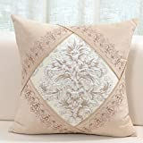 European-style embroidered cushions/ fiber pillow leather sofa/Plant car waist pillow-C 60x60cm(24x24inch)VersionB
